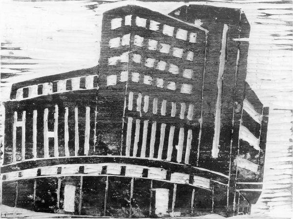 "La Rotonde, Holzschnitt (Bild: Lehrmittel ""Bauten, Städte, Landschaften"")"