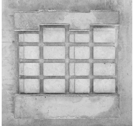 Abguss Fassade negativ,La Contenta, Domat/Ems, Architektur: Aita Flury (Bild: Aita Flury)