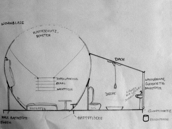 """Raumplan (Immagine: aus der Projektwoche """"Lichtidee und Stadtgestalt"""")"""