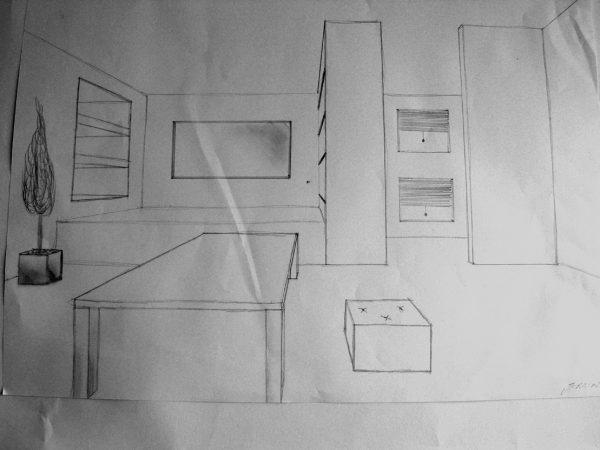 """Skizze Innenraum (Immagine: aus der Projektwoche """"Lichtidee und Stadtgestalt"""")"""