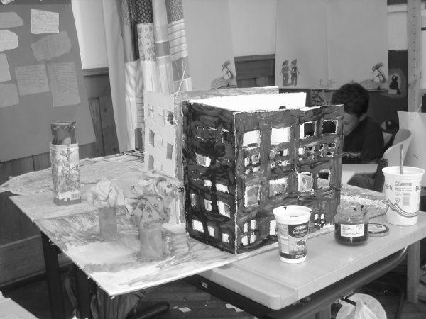 """Modell Wohnform (Bild: Spacespot Projektwoche """"Mitten im Leben – wie wollt ihr wohnen?"""")"""