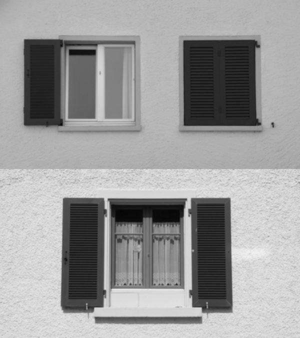 Holzläden einseitig oder beidseitig. (Image: David Häberli)