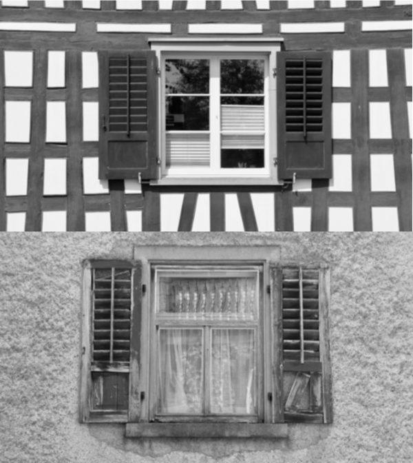 unterschiedlicher Zustand der Holzläden (Image: David Häberli)