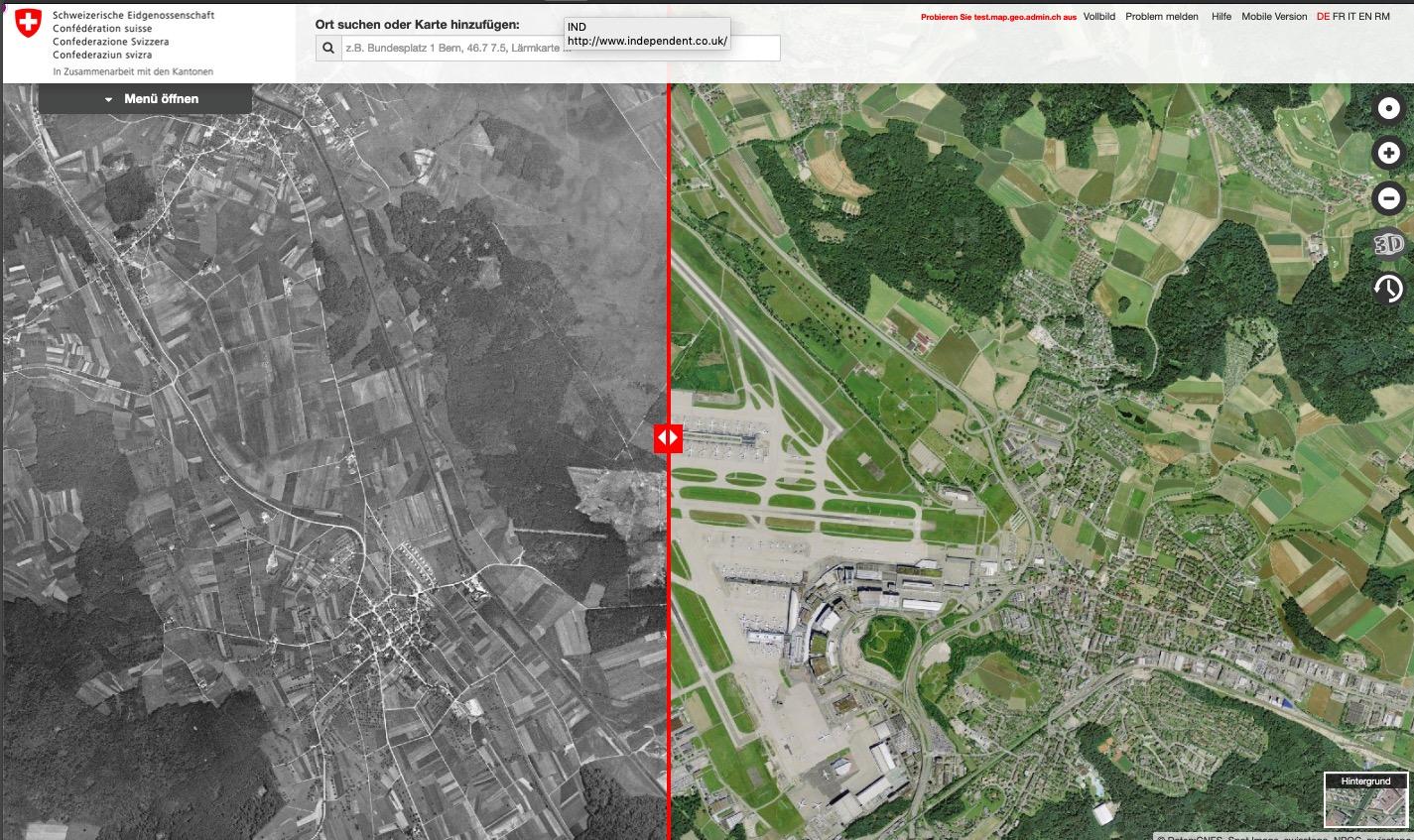 Luftaufnahmen 1946 und heute
